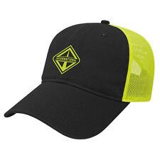 International Trucks Hi-Vis Safety Yellow Ultra Soft Mesh Workwear Cap/Hat