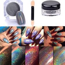 2g Holographic Laser Powder Nail Glitter Rainbow Chrome Pigments Decoration DIY