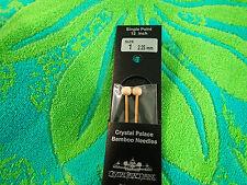 """Crystal Palace Bamboo Knitting Needles Single pointed US size 1   9 """" needles"""