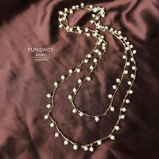 Collar Largo Perla Crema Fantasía Noche Matrimonio Super Elegante FUN 3