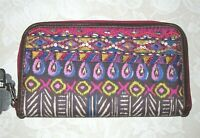 Pier 1 Imports Zip Around Wallet Embellished Geometric Design Brand New With Tag