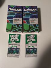 2 NEWPORT Limited Time Menthol Cigarettes Paper Box Empty by ST Artist DR DAX