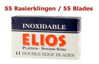 55 Lames de Rasoir Elios Inoxidable Platinium Suédois Steel Sécurité Double Bord