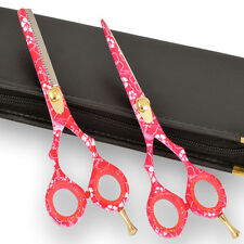 Pink Flower Hairdressing & Hair Thinning Scissors set 5.5