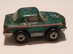 Micro Machines Super Sparklers Mercedes Glitter Green