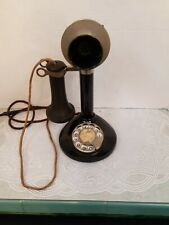 Vintage Antique S C Working Candlestick Telephone With Clickity MERCEDES Dial