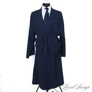 #1 MENSWEAR Maus & Hoffman Made in Italy Indigo Waffled Knit Pool Robe XXL NR