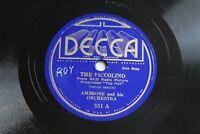 Decca 551 Ambrose and His Orchestra The Piccolino Embassy Stomp 78 Record