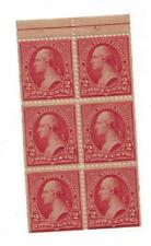 U S stamps Scott 279Bj two cent bureau issue booklet pane mint cv 500.00