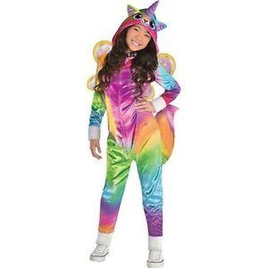 Girls Felicity Costume - Rainbow Kitty Unicorn Child Small