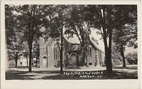 New York NY Real Photo RPPC Postcard 1941 ADDISON Presbyterian Church
