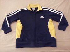 Boys adidas Jacket 5 Navy Blue Yellow Athletic Gym Workout