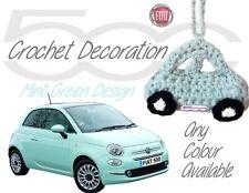 Handmade Crochet Fiat 500 Hanging Decorations Accessories - Mint Green Design