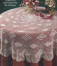 Crochet Pattern ~ DIAMONDS TABLECLOTH ~ Instructions