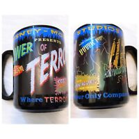 Vintage Disney Hollywood Studios Tower of Terror Black coffee mug Horror