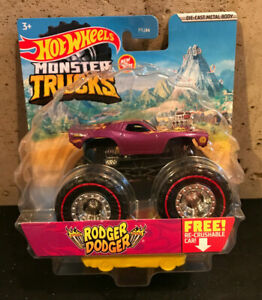 2021 Hot Wheels Monster Trucks Purple Rodger Dodger Treasure Hunt Truck CHASE