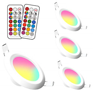 Jayool LED Recessed Ceiling Lights, Colour Changing Downlights 3 Inch 5W Round 4