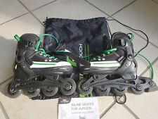 CRANE Inlineskates verstellbar in Größe 29-32 grün/schwarz Softboots + Tasche