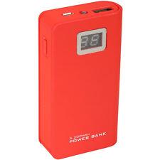 5200mAh USB External Battery Portable Travel Power Bank LED Indicator Red