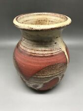 Small Studio Pottery Vase - Impressed AW (?) - 10.5 Cm Tall
