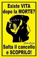 CANE CORSO - Cartello - ATTENTI AL CANE - ATTENTI AI CANI - CANE CORSO