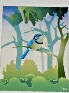 Splendid Blue Fairy Wren Junior by Gent Blackwood Valley WA Unframed Print