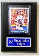 "Clayton Kershaw Los Angeles Dodgers Sport Card Plaque. 5"" x 7"""
