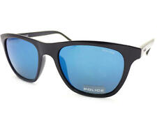 a0f9a72016 POLICE - HOT 1 sunglasses Shiny Black / Blue Mirror Lenses S1936 Z42B