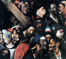 Christ Carrying The Cross by Hieronymus Bosch, Handmade Oil Painting Reproductio