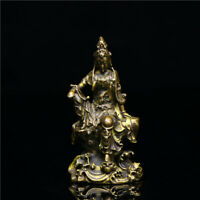 Chinese Collection Asian old Antiques Ksitigarbha Buddha statue hand piece
