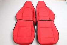 Custom Made 99-05 Miata NB8C Real Leather Seat Covers for Base Model Only Red