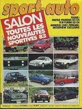 SPORT AUTO n°249 10/1982 GP SUISSE ITALIE R18 TURBO MURENA AVEC ENCART & POSTER