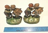 Hubley 332 Dutch Kissing Boy & Girl Painted Cast Iron Bookends - Collectibles