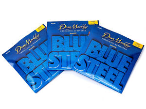 3 Sets Dean Markley Blue Steel Acoustic Strings #2034 Light Gauge 11-52