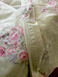 Simply Shabby Chic KING Duvet Cover Bramble Rose Green Floral Cottage