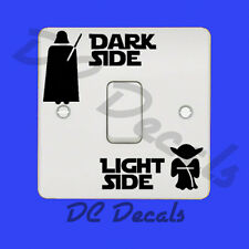 Star Wars-Dark Side Laterales De Luz Interruptor De Luz Pegatina De Vinilo Calcomanía Divertido Pared Arte