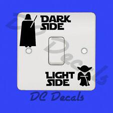 STAR Wars-DARK SIDE lato luce interruttore della luce Sticker Vinyl Decal divertenti Wall Art