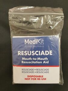 Disposable Mouth-To-Mouth Resuscitation Aids One Way CPR Valves With Face Shield