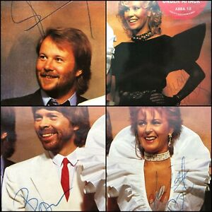 """Abba - Fully Signed in 1982 - The Singles First Ten Years Double 12"""" Vinyl Promo"""