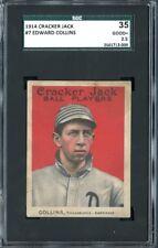 1914 Cracker Jack #7 EDDIE COLLINS SGC 35 / 2.5 GD+ Athletics White Sox HOF