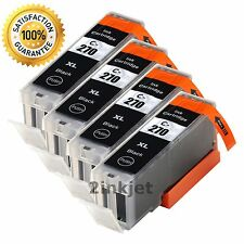 4PK PGI-270 XL Black Ink Cartridges for Canon PIXMA MG5720 MG5722 MG6820 MG6821