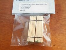 HO Scale Custom Wood Pallets Load Qty 2 1/2 inches long by 3/4 inches wide # 400