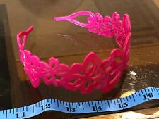 Floral Flower Plastic Wrap Hot Pink Cute Hair Head Band Alice