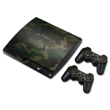Skin Cover Decals Camo Camouflage Sticker + 2 Controller For PS3 SLIM Console