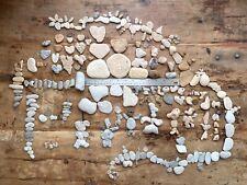 4#Natural Beach Rocks Surf Tumbled Stones Pebbles for Art Craft 250+Lot mosaic#X