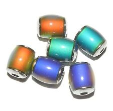 MC118 Color Changing Thermo Sensitive Liquid Crystal Mood Beads 12mm Barrel 6pc