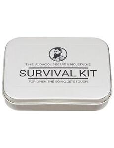 The Audacious Beard Co Mens Gentlemans Beard and Moustache Survival Kit Set