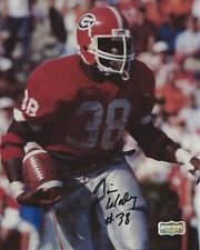 """Tim Worley Autographed/Signed Sec Georgia Bulldogs Ncaa 8x10 Photo """"Red Jersey"""""""