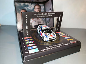 RALLY 1/43 IXO VW MOTORSPORT POLO R WRC SEBASTIEN OGIER CHAMPION 2013 LIMITED