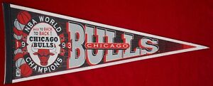 Chicago Bulls 1993 NBA Back to Back to Back World Champions Pennant